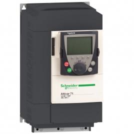 施耐德变频器 ATV71HU55N4Z ATV71 5.5kW 3P 380VAC, 5.5KW,普通涂层,简易面板,EMC,无电抗器