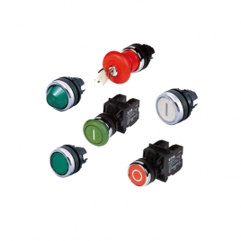 伊顿穆勒平头按钮 A22-RD-11/K11 前部亮光面环