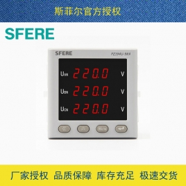 斯菲尔(SFERE) 三相电压测量 数显表 带PZ194U-9K4 AC100V-3P3W